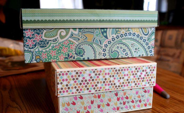 Как можно украсить коробку своими руками фото