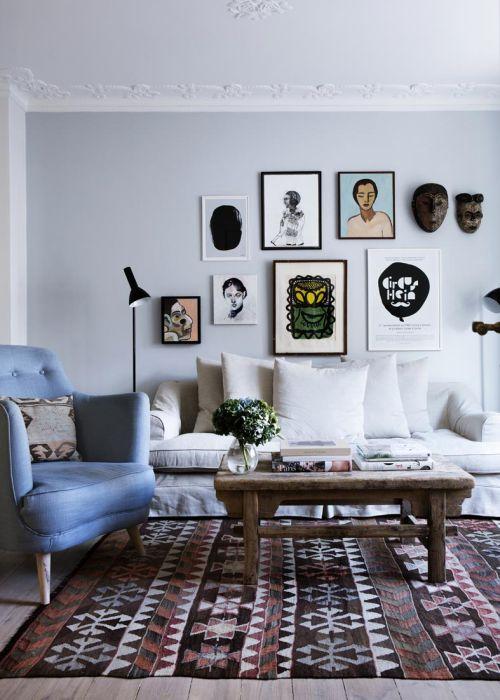Геометрический ковёр в этническом стиле