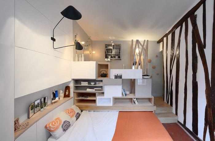 Парижская квартира площадью 12 квадратов.