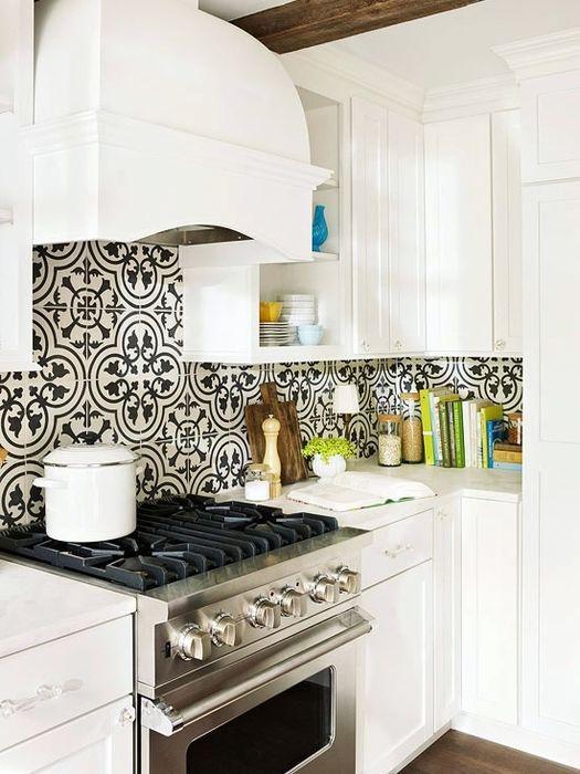 Милый интерьер небольшой кухни