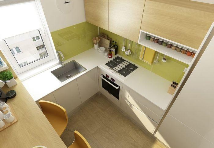 Кухня квадратная 6 кв м дизайн
