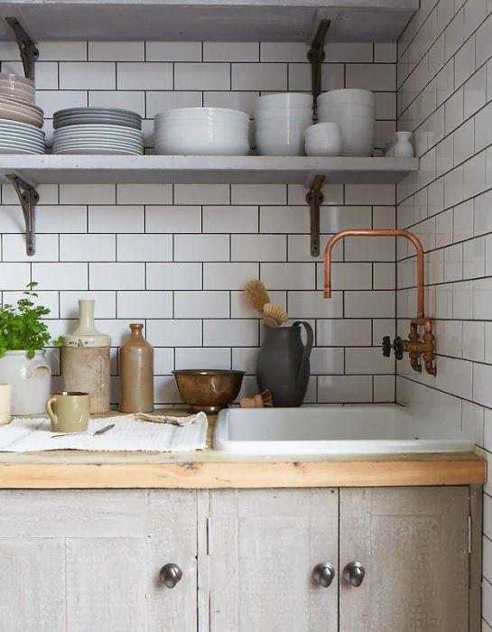 Кухонный фартук в скандинавском стиле