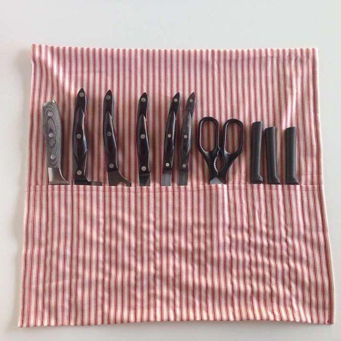Текстильный органайзер для ножей
