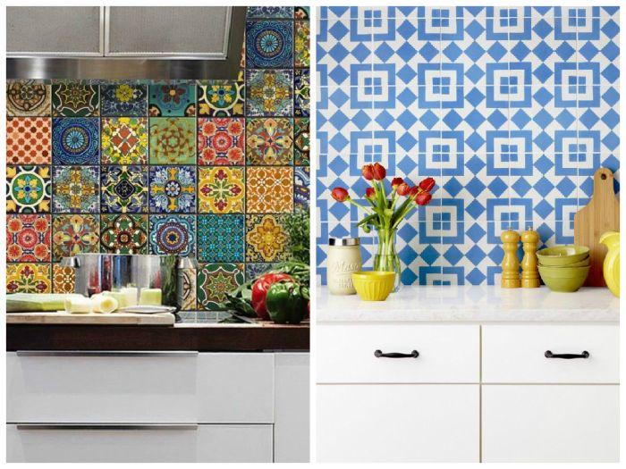 Варианты дизайна кухонного фартука