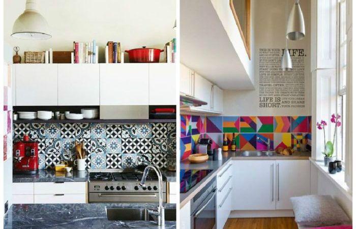 Необычный дизайн кухонных фартуков