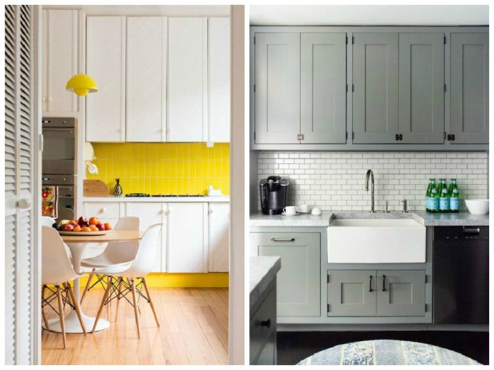 Кухонный фартук может быть нейтральным или выступать в качестве цветового акцента
