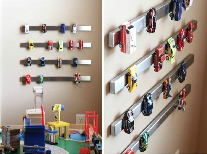 Хранение игрушечных автомобилей