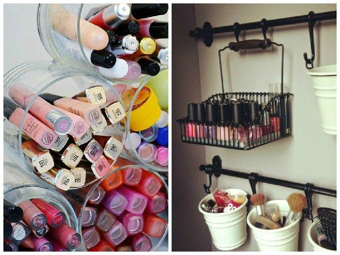 35 интересных способов хранения косметики