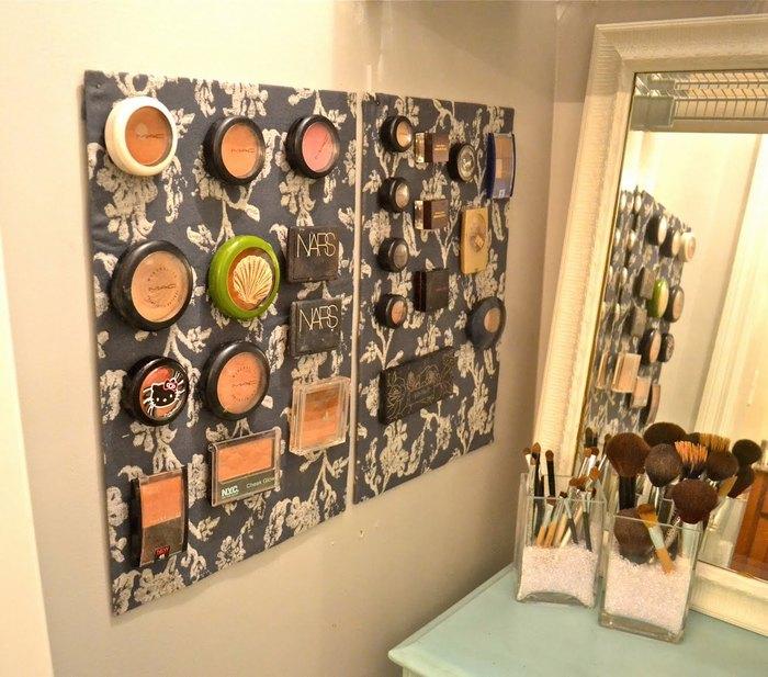 Способ №26. Текстильная доска для хранения косметики