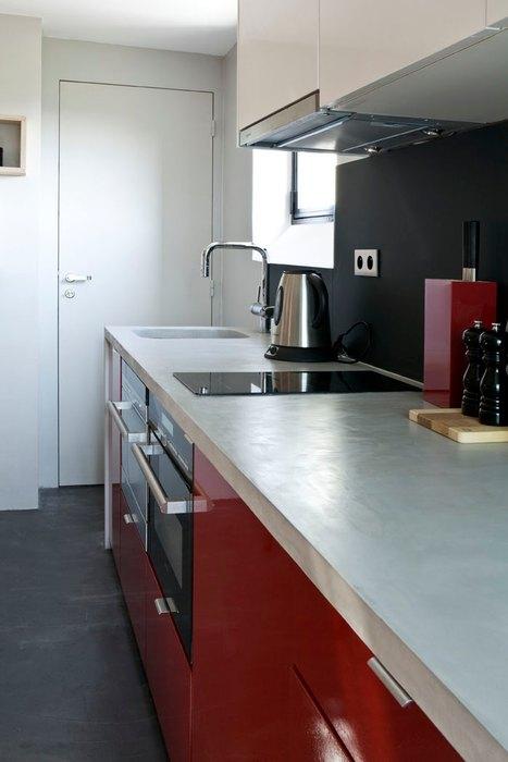 Маленькая кухня в микро-лофте