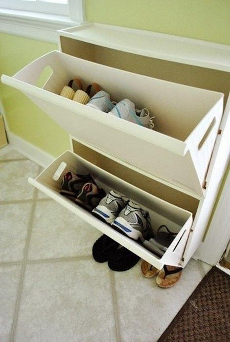Обувница здорово экономит место в прихожей