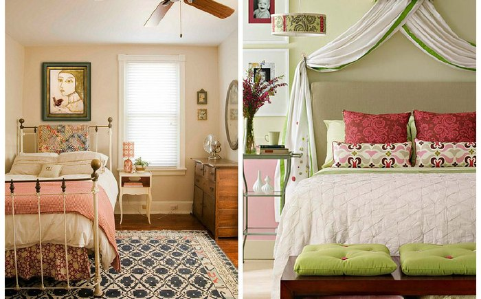 Маленькие спальни.