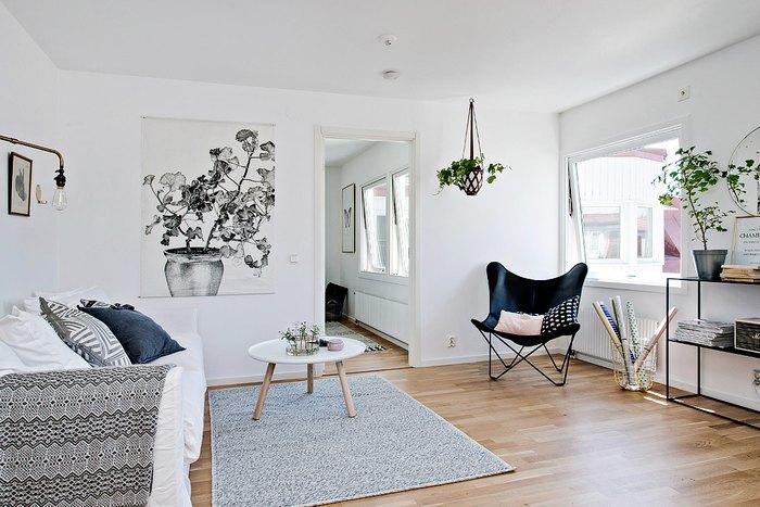 Белый считается традиционным для скандинавского стиля