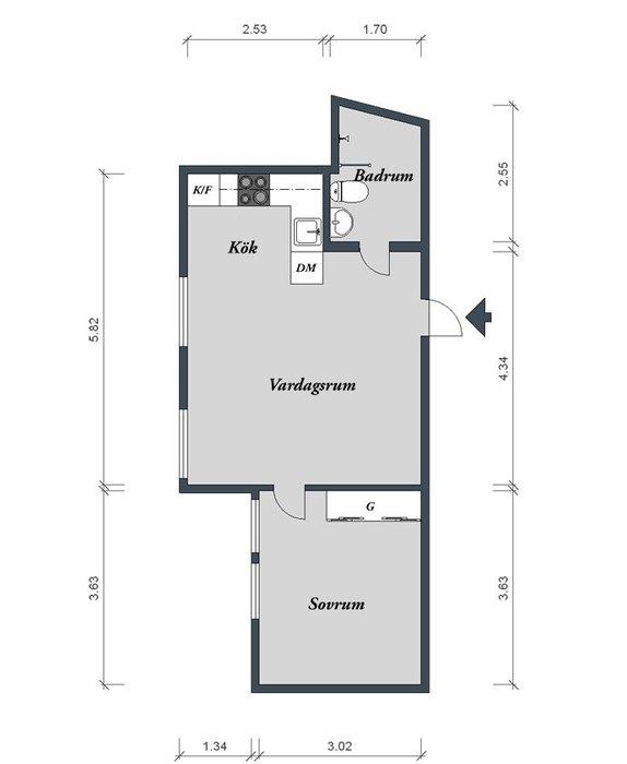 Планировка квартиры 40 квадратных метров