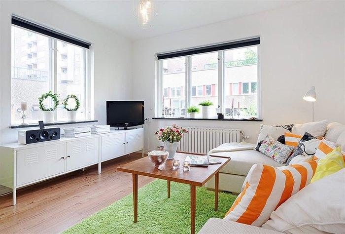 Приятная цветовая гамма в маленькой квартире
