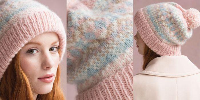 Модная вязаная шапка