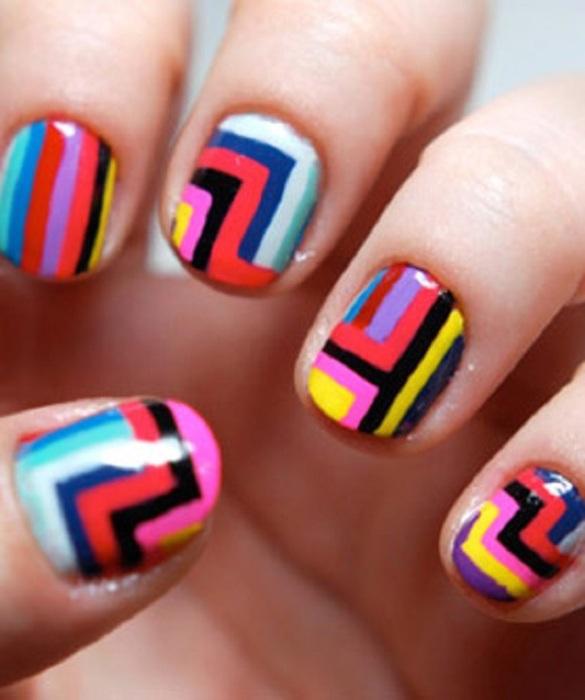 Цветные геометрические линии