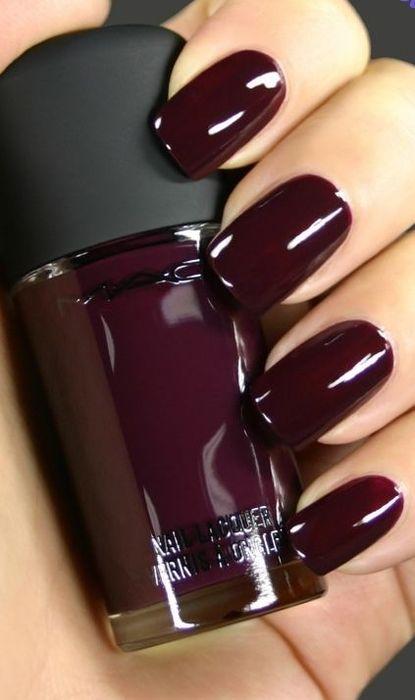 фото ногти цвета марсала