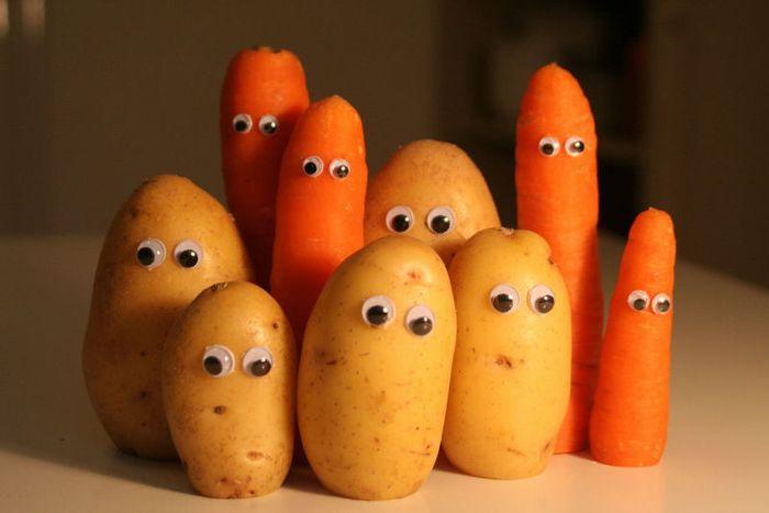 Морковь и картофель эффективно борются с жирной кожей