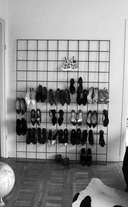Хранение обуви на виду