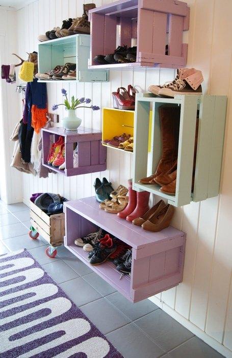 Хранение обуви на даче