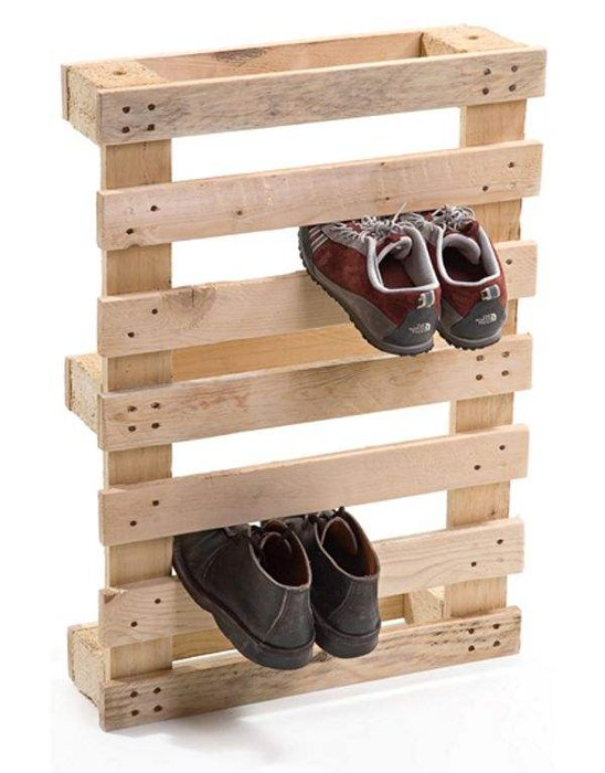 Паллета, как подставка для обуви