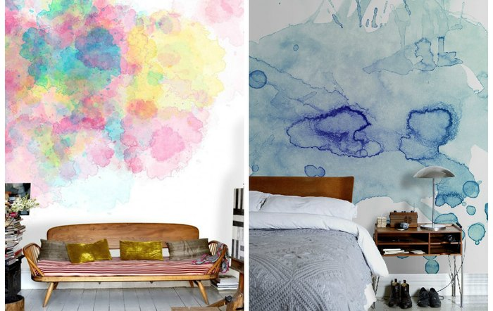 Фото идеи разноцветных стен