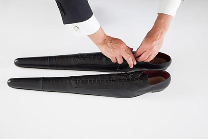 Туфли изготовлены из телячьей кожи