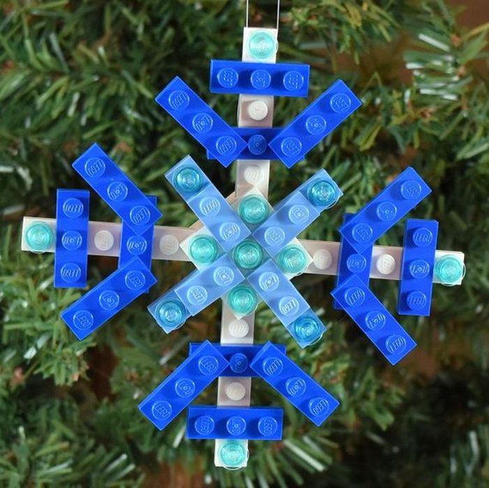 Снежинка Lego