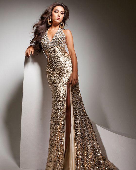 Блестящее платье Tony Bowls