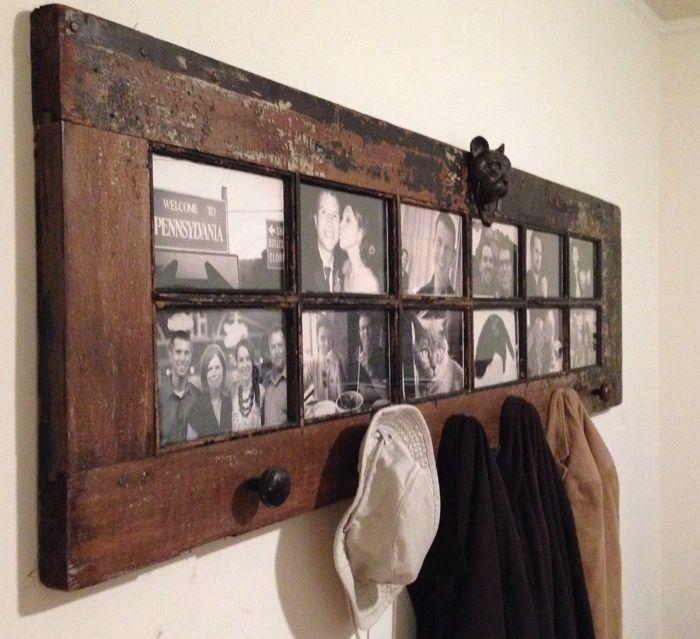 Вешалка для верхней одежды из старой двери