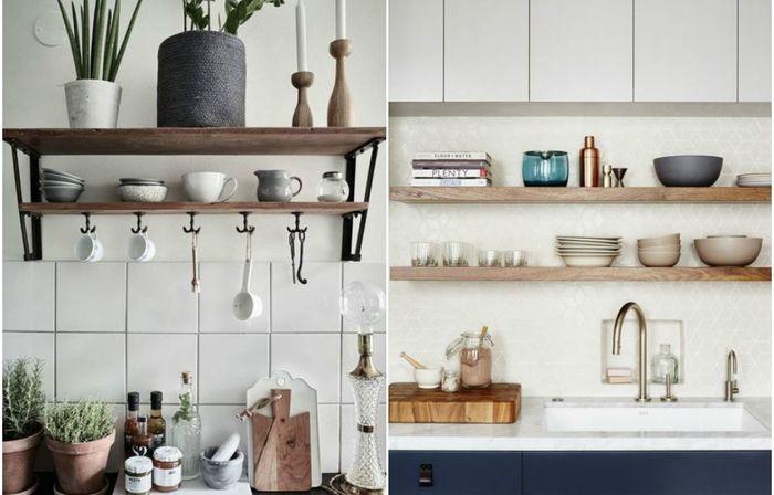 Открытые системы хранения: горячий тренд в оформлении кухонь