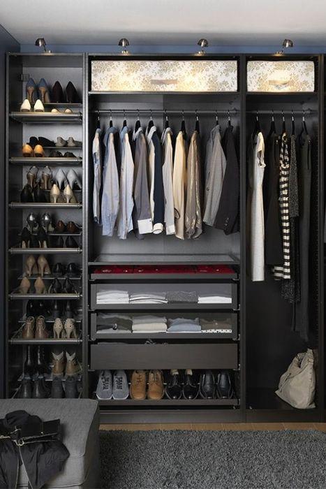 Лаконичный дизайн гардеробной