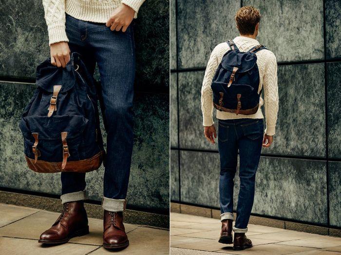 Стильный джинсовый рюкзак