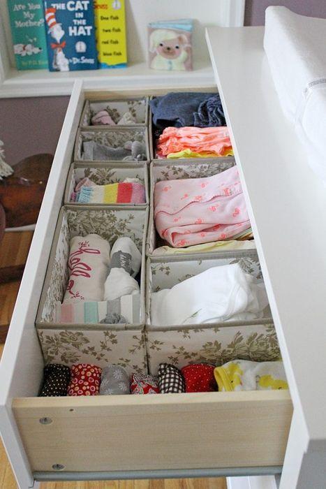 Хранение вещей в выдвижном ящике