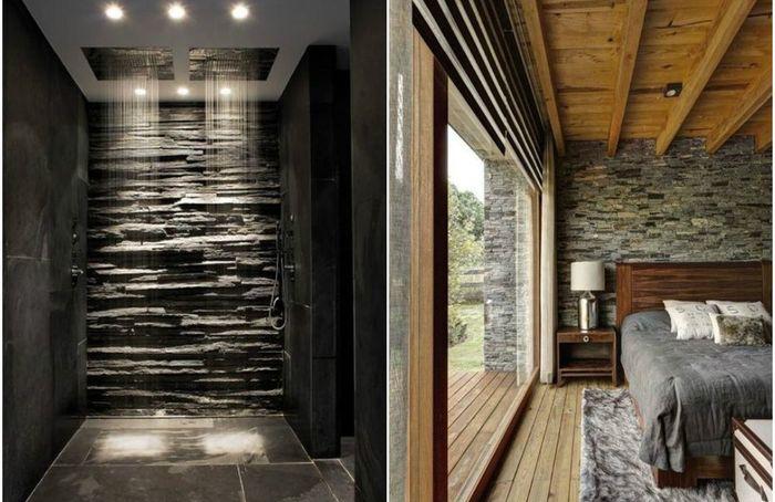 Рустикальный шик: 10 роскошных примеров того, как облицевать стены камнем