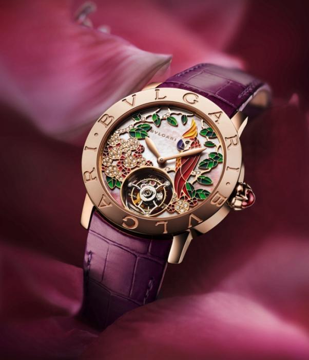 Часы, посвящённые тропическим садам