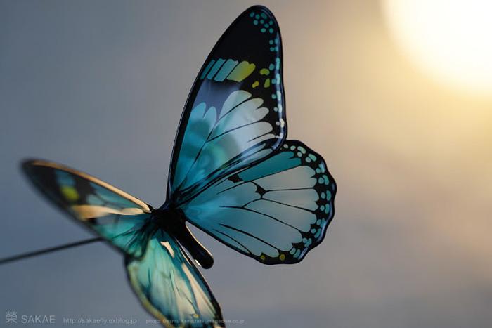 Реалистичная заколка для волос в виде бабочки.