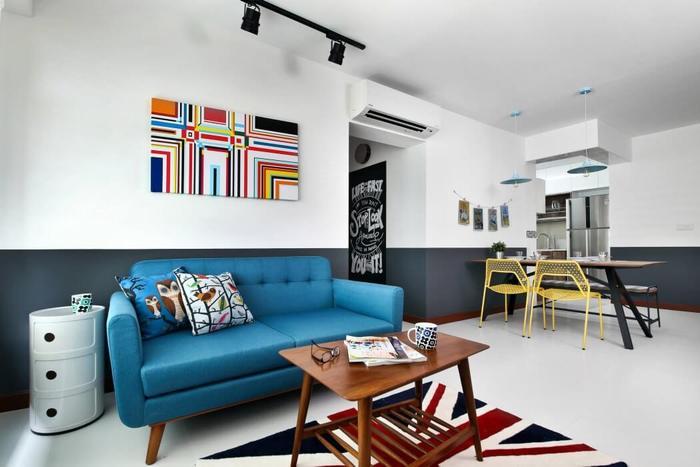 Проект двухкомнатной квартиры в Сингапуре