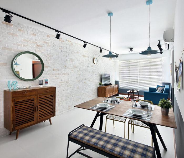 Проект рассчитан на квартиру, площадью 85 квадратных метров