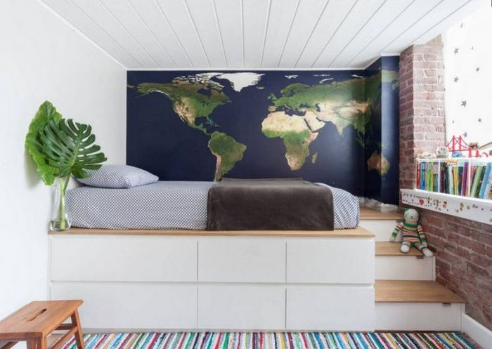 Хорошая идея для небольшой спальни