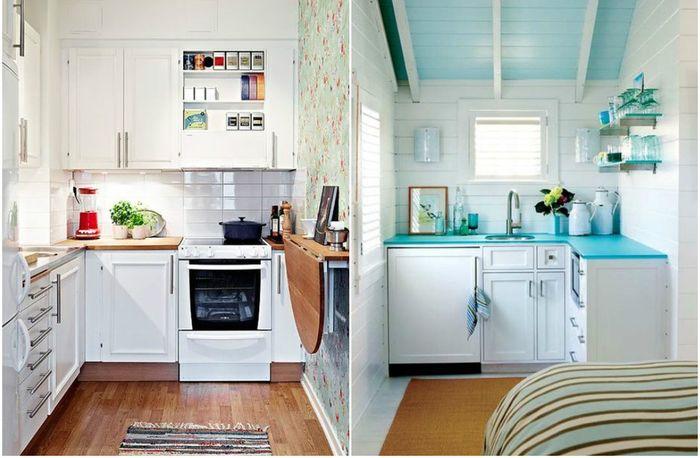 Дизайн маленькой кухни: 16 макси-идей и 70 фото