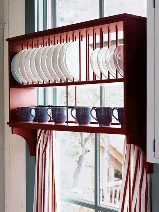 Хранение тарелок на кухне