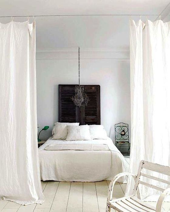Спальное место за шторкой