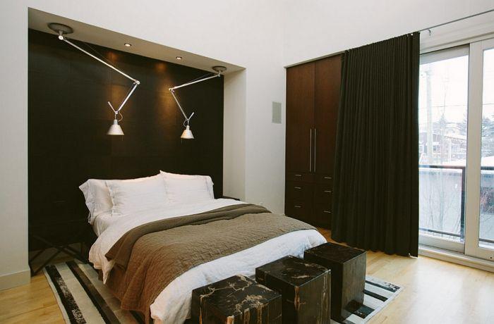 Элегантная мужская спальня