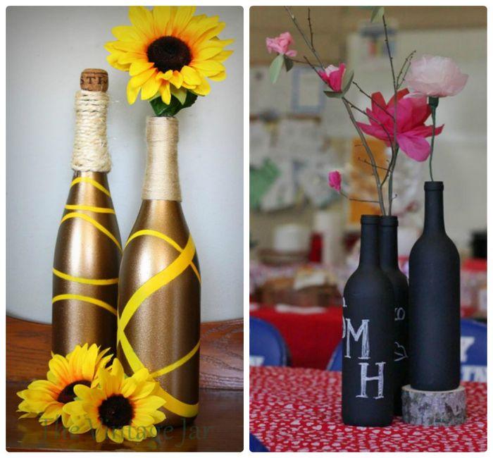 Декор из обычных бутылок