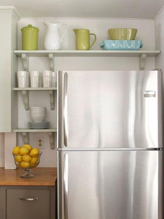 Полки над холодильником