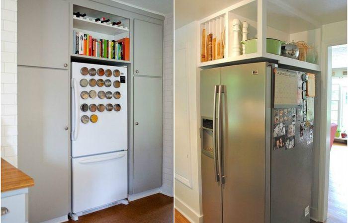 Как задействовать место над холодильником