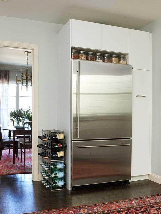 Хранение специй над холодильником