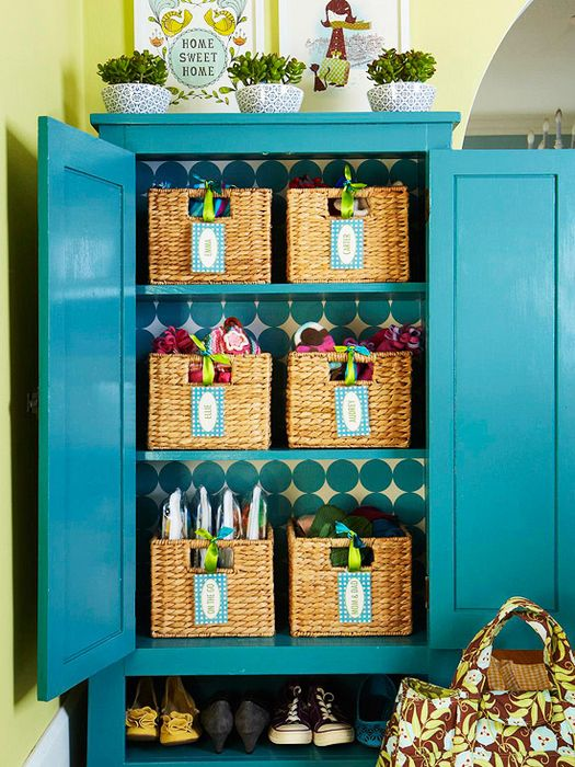 Плетёные корзинки с бирками